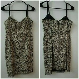 Vintage Leopard print sheath dress
